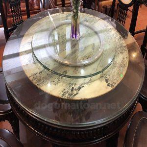 Mặt bàn tròn đá tự nhiên siêu đẹp