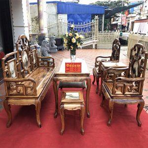 Bộ bàn ghế móc mỏ 6 món gỗ gụ siêu đẹp