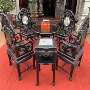Bộ bàn ghế thái sư gỗ trắc