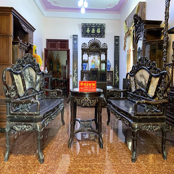Bộ bàn ghế trúc nho gỗ trắc cực đẹp và đẳng cấp