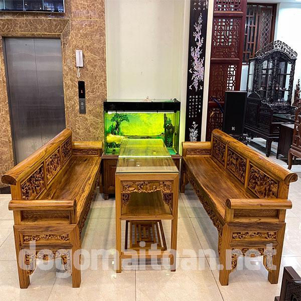 Bộ bàn ghế trường kỷ gỗ gụ ta cực đẹp