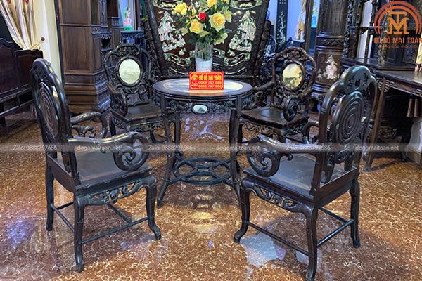 Bộ bàn ghế trúc nho cực đẹp